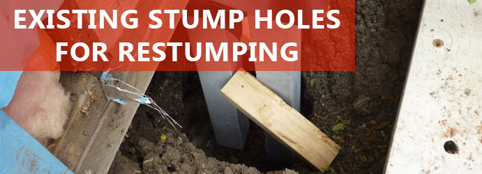 Existing Stump Holes For Restumping Melbourne